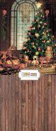 """Фон """"Christmas tree"""" 3,5x1,5 м"""