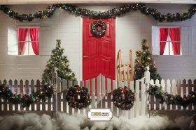 "Фон стена ""Christmas street"""