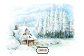 "Фон стена ""Winter wall №2"""