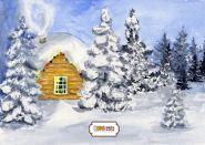 """Фон стена """"Winter-time №1"""""""